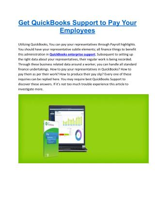 Get QuickBooks Support to Pay Your Employees