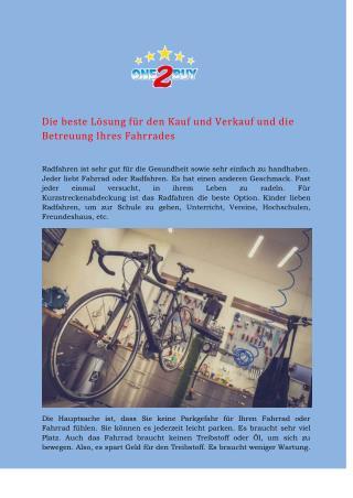 Kauf und Verkauf von Fahrrad zu angemessenem Preis - One2Buy