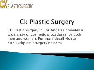 Korean Plastic Surgery clinic in Los Angeles CA
