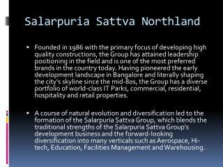 Salarpuria Sattva Northland |Hennur Rd, Bangalore|4BHK Luxury house