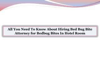 All You Need To Know About Hiring Bed Bug Bite Attorney for Bedbug Bites In Hotel Room