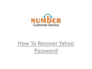How to Recover Yahoo Mail Account Password Solutions