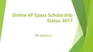 Online AP Epass Scholarship Status 2017