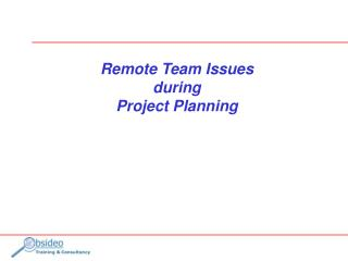 Remote Team Issues during Project Planning