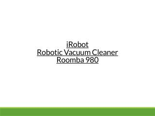 iRobot- Roomba 980