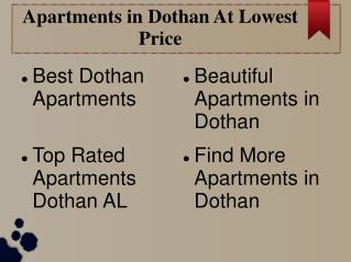 Apartments in Dothan With Carefree Lifestyle