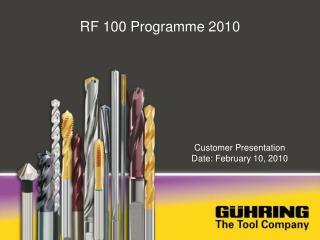 RF 100 Programme 2010