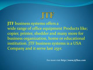Services Provided by JTF Business Systems
