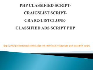 Php classified script- Craigslist Script- Craigslist Clone-Classified ads script php