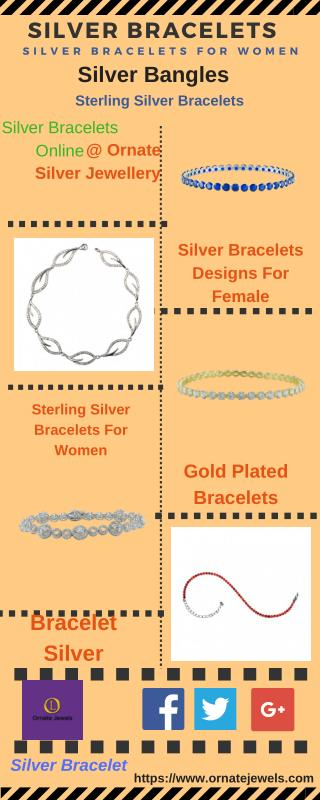 Silver Bracelets : Shop Sterling Silver Bangles For Women, Girls