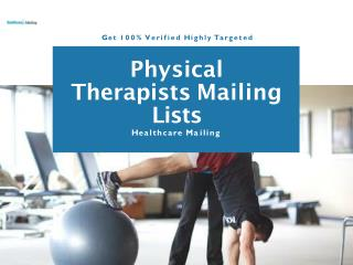 physical therapists direct mailing lists