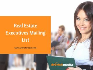 Power Your Marketing Campaigns With Real Estate Agents Direct Mailing Lists