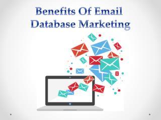 Benefits of Email Database Marketing