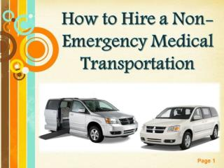 How to Hire a Non-Emergency Medical Transportation