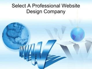 Select A Professional Website Design Company