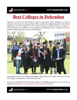 Best Colleges in Dehradun
