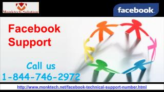Who will provide me Facebook Support 1-844-746-2972?