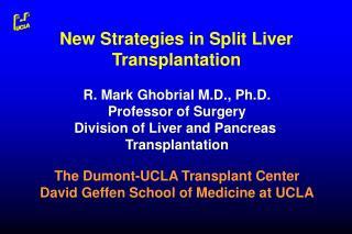 New Strategies in Split Liver Transplantation