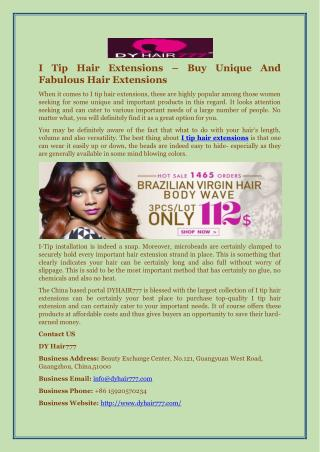 I Tip Hair Extensions – Buy Unique And Fabulous Hair Extensions