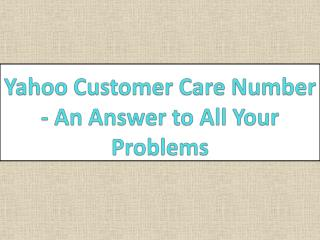 Yahoo Support Number Australia - An Answer to All Your Problems