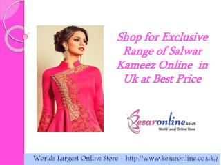 Buy  Salwar Kameez Online UK at best price