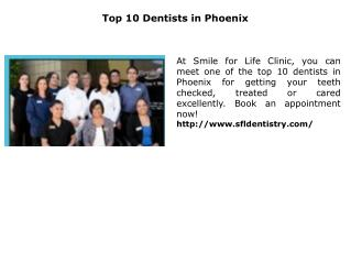 Top 10 Dentists in Phoenix