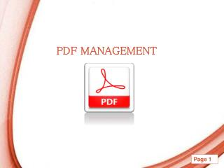 PDF Recovery and Management