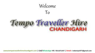 Book Luxury Tempo Traveller in Chandigarh