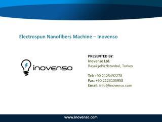 Electrospun Nanofibers Machine – Inovenso
