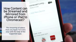 www google com chromecast setup Call 1-844-305-0087 How Content can be Streamed