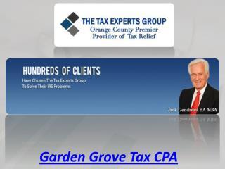 Garden Grove Tax CPA