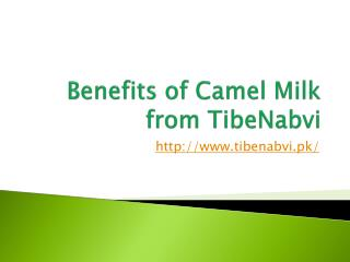 Benefits of Camel Milk from TibeNabvi
