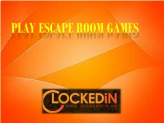 Play Mystery Escape Room Games