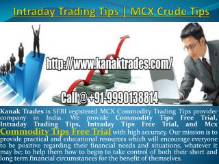 Intraday Trading Tips | MCX Crude Tips