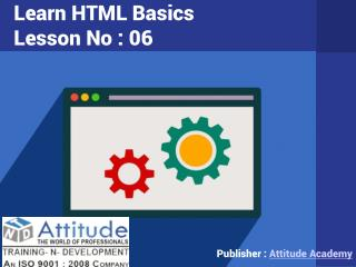 Learn Advanced and Basic HTML - Lesson 6
