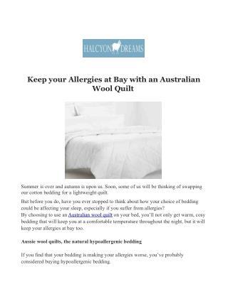 Best Woollen Quilt Manufacturers in Australia