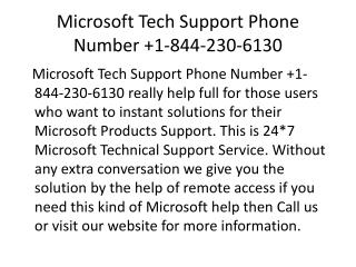 Microsoft Tech Support Phone Number