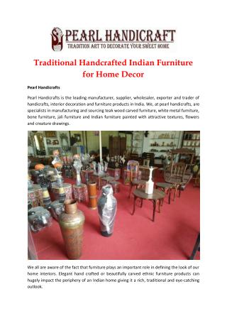 Handcrafted Solid Wood Furniture for Home Decoration