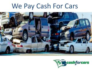 Welcome to We Pay Cash For Cars