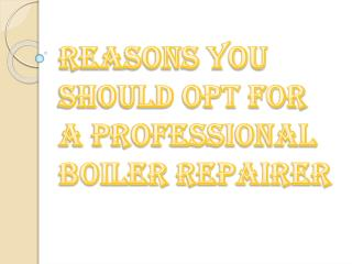 Think Before Hiring Professional Boiler Repairer