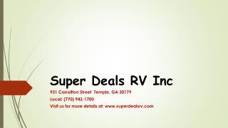 Super Deals RV Inc-Best RV Dealer in GA
