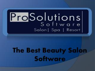 The Best Beauty Salon Software by Prosolution