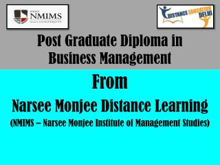 (NMIMS) Narsee monjee distance learning Post graduate diploma in business management