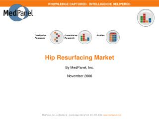 Hip Resurfacing Market  By MedPanel, Inc.  November 2006