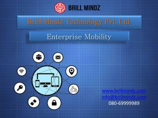 Enterprise Mobility Techniques in Brill Mindz Technology
