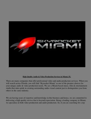 Creative Media Production Company In Florida