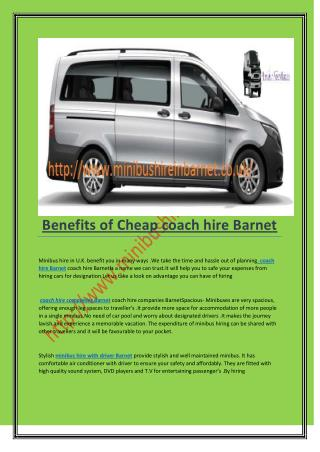 Cheap coach hire Barnet