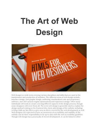 The Art of Web Design