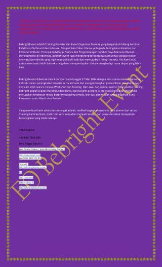 +62 856-7153-925 (Fery) Eo outbound Bekasi Bebrightevent, Event Organizer di Bekasi Bebrightevent