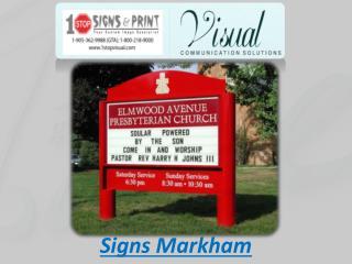 Signs Markham